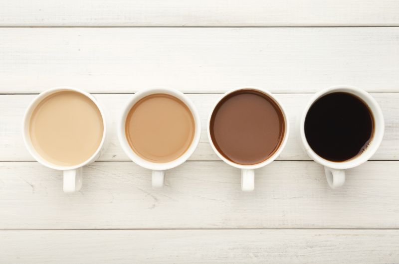 What is the difference between white and black coffee?